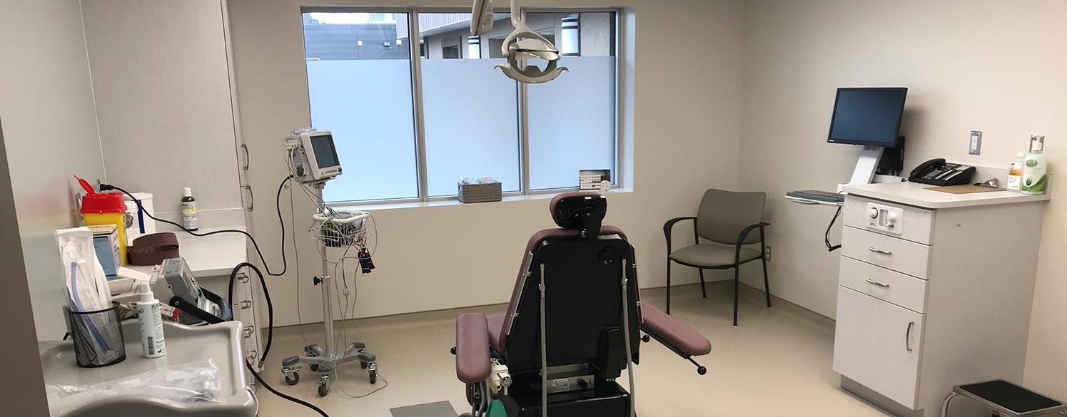 Dental operatory at Huronia Oral Surgery Group in Barrie, Ontario