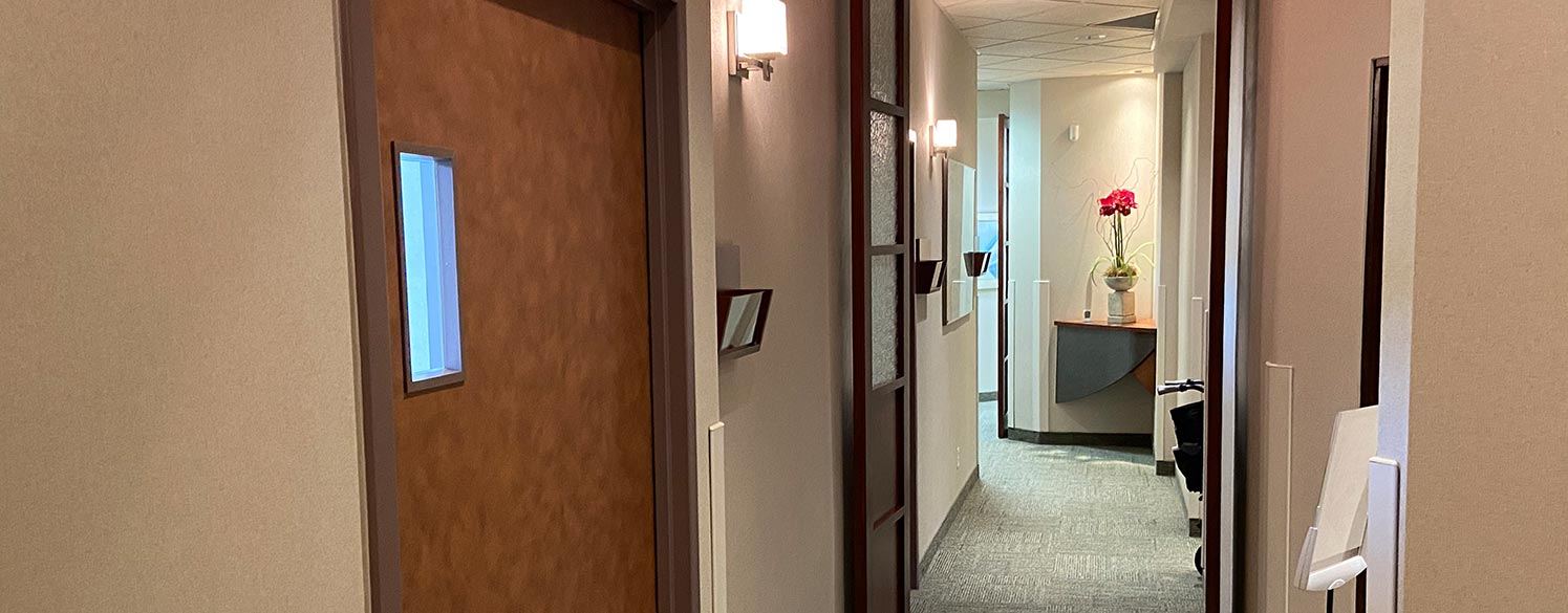 Hallway between offices at Huronia Oral Surgery Group