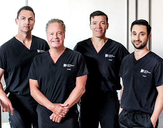 Dr. MacNicol, Dr. Jackson, Dr. Gater and Dr. Mokhtari at Huronia Oral Surgery Group