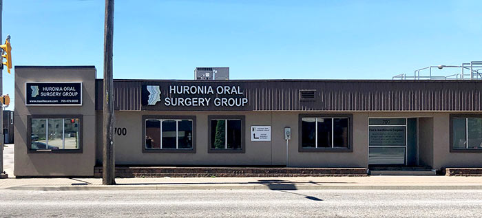 Exterior of Huronia Oral Surgery Group building in Barrie, Ontario
